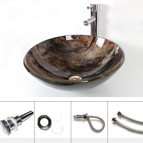 Jade Tempered Glass Countertop Bowl Basin