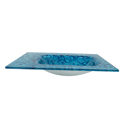 Porcelain Painted Tempered Glass Counter Basin