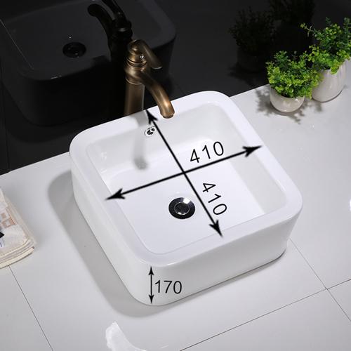 Anna Square Ceramic Countertop Wash Basin