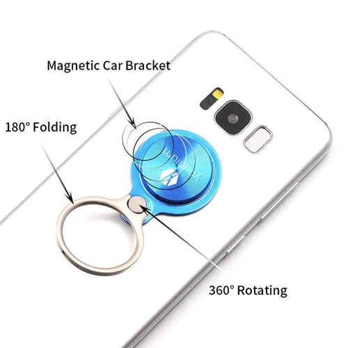 360 Rotating Metal Finger Ring Holder Round Image 1