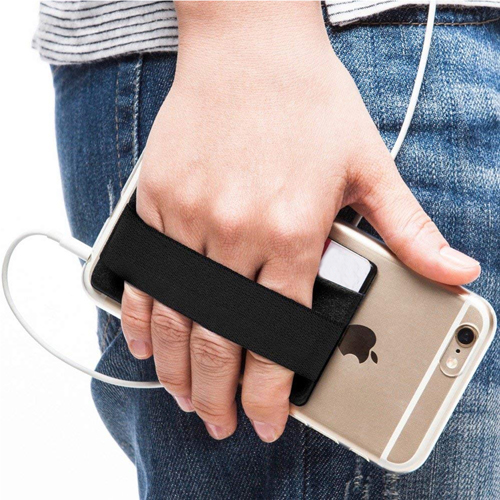 Mobile Phone Grip With Card Wallet Holder