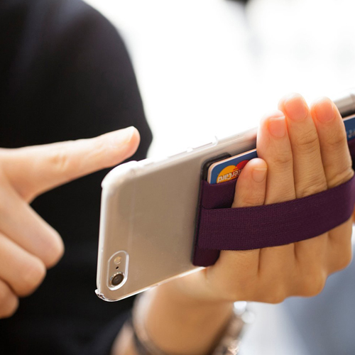Mobile Phone Grip With Card Wallet Holder Image 4