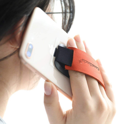 Promotional Leather Mobile Phone Grip Strap Image 2