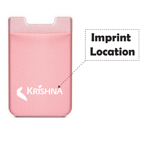Custom Mobile Phone Card Holder Imprint Image