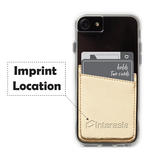 Adhesive Mobile Phone Card Wallet Imprint Image