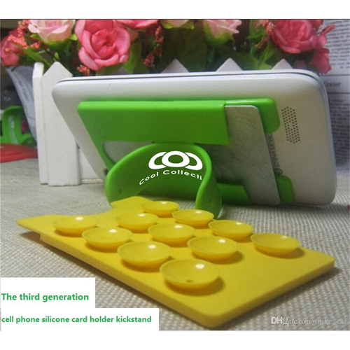 Silicone Suction Smartphone Wallet Stand Image 2