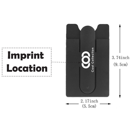 Silicone Suction Smartphone Wallet Stand Imprint Image