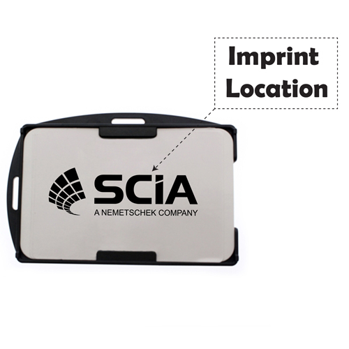 Promotional Rigid ID Card Holder Imprint Image