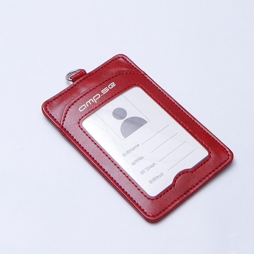 Leather Slim ID Card Holder with Lanyard Image 5