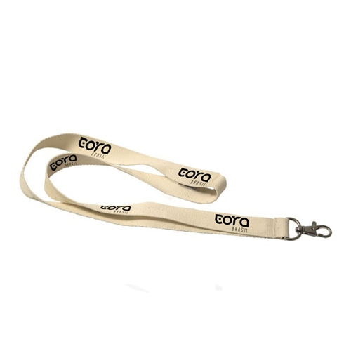 Eco Friendly Cotton Lanyard With Snap Hook Image 1