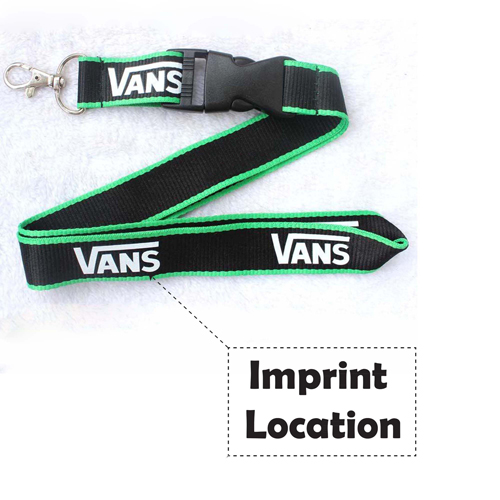 Custom Cotton Badge Holder Lanyard Imprint Image