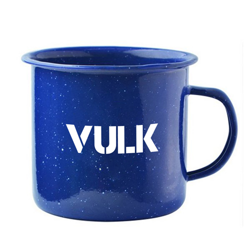 Happy Enamel Metal Mug Image 1