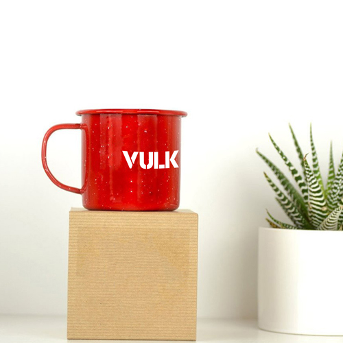 Happy Enamel Metal Mug Image 4