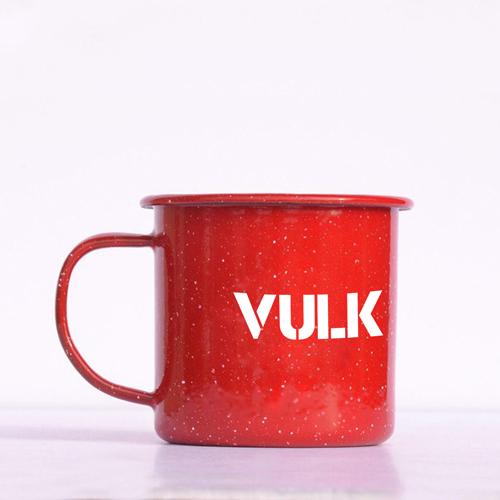 Happy Enamel Metal Mug Image 5