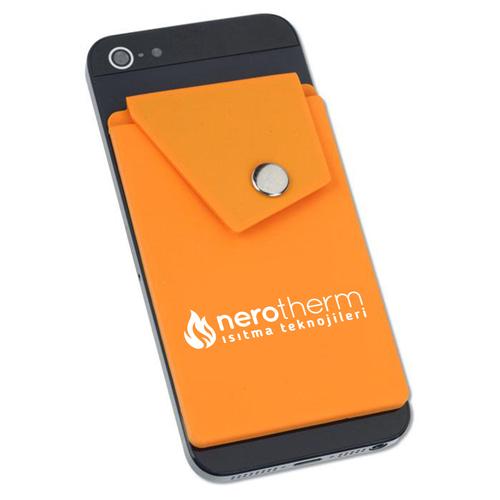 Silicone Smartphone Snap Pocket Wallet Image 1