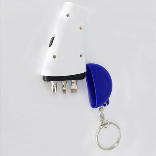 Pocket Screwdriver Tool Kit Keychain Flashlight Image 1