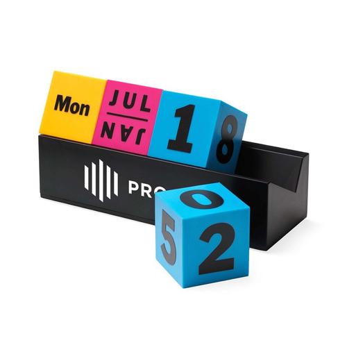 Cubes Perpetual Desk Calendar Image 2