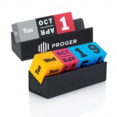 Cubes Perpetual Desk Calendar Image 6