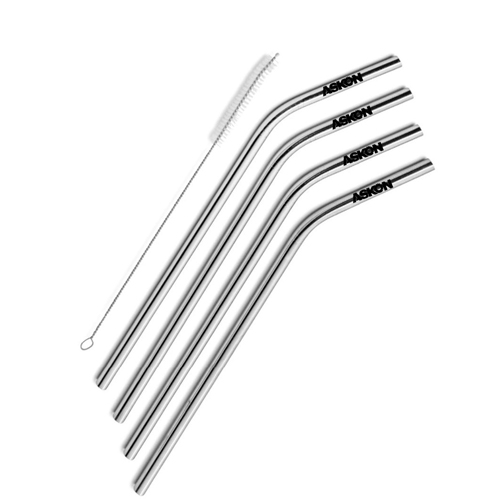 Stainless Steel Straw with Cleaning Brush Image 2