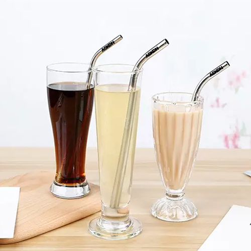 Stainless Steel Straw with Cleaning Brush Image 3