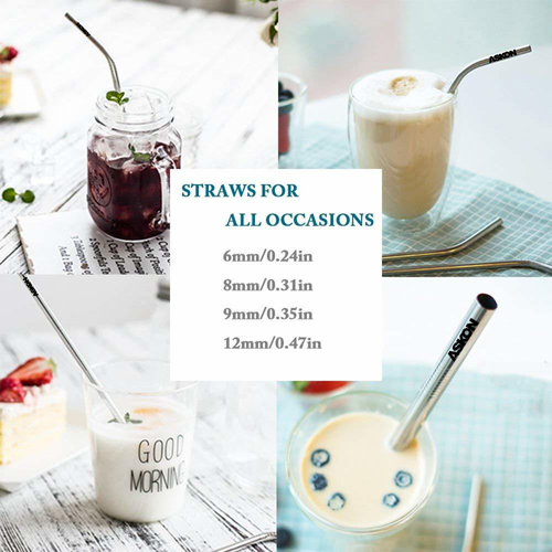 Trendy Stainless Steel Drinking Straw Set Image 10