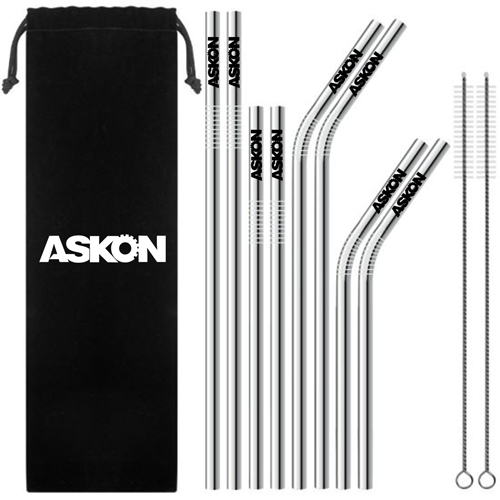 Trendy Stainless Steel Drinking Straw Set Image 1