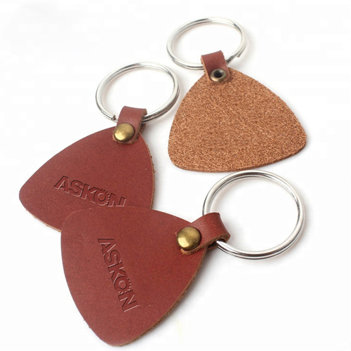 Custom Leather Key Tag Keychain Image 3