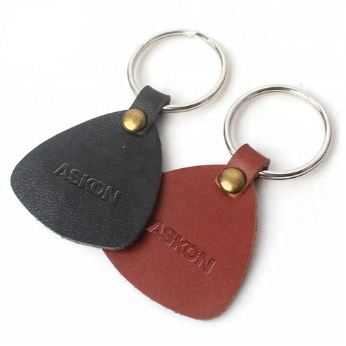 Custom Leather Key Tag Keychain Image 4