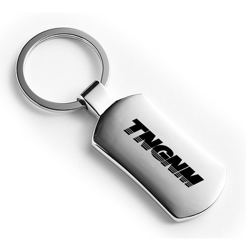 Personalized Carbon Fiber Metal Keychain Image 3