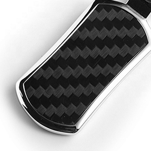 Personalized Carbon Fiber Metal Keychain Image 5