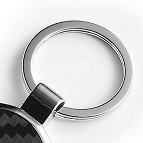 Personalized Carbon Fiber Metal Keychain Image 6