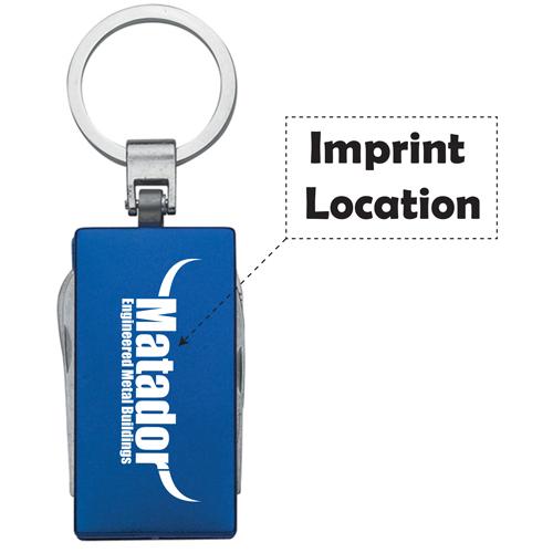 Multi-Function 5 In 1 Aluminum Key Tag Imprint Image