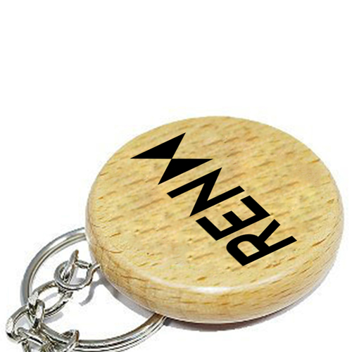Round Shape Wooden Keychain Image 4