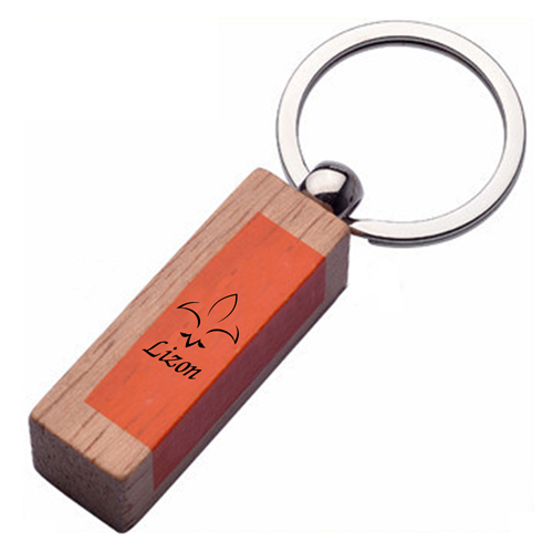 Rounded Corner Wooden Keychain Image 6