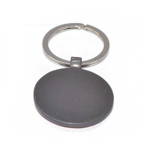 Round Assorted Frame Wooden Keychain Image 1