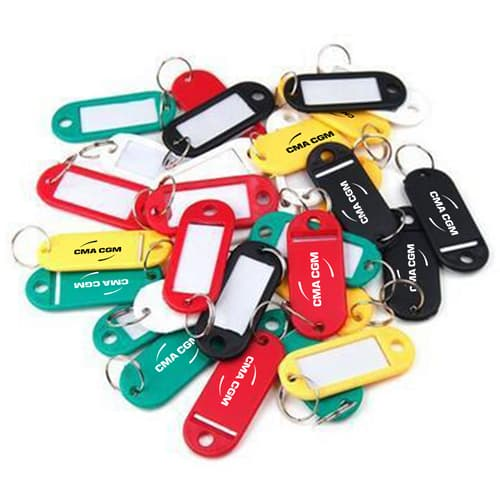 Frosted Marker Bag Tag Keychain