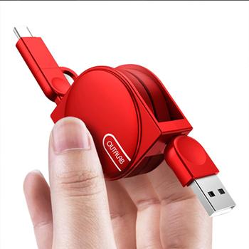 قابل للسحب 2 في 1 كبل USB