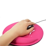 Round Mouse Pad With Wrist Rest