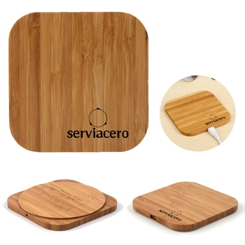 Square Qi Wireless Wooden Charging Pad