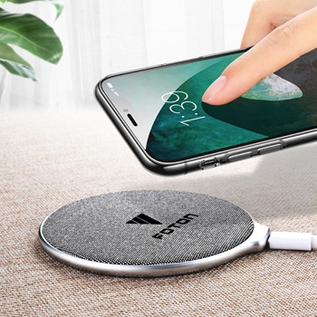 Rounded Denim Wireless Charging Pad