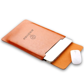 Slim Protective Leather Laptop Sleeve