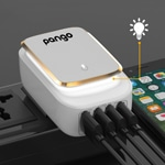 Touch Lamp 4-Ports USB Charger Adapter