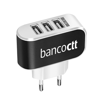 Triple USB Port Wall Charger Adapter