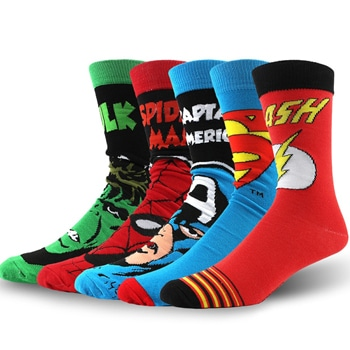 Superhero Long Men Socks