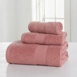Solid Plush Cotton Bath Towel Set
