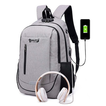 Travel Reflective Strip Bag With USB Charging Port