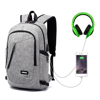 Lameson Laptop Backpack with USB Charging Port