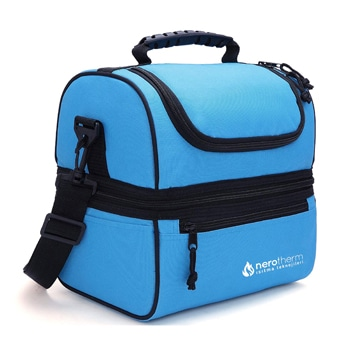 حقيبة غداء معزولة ذات بسطح مزدوج