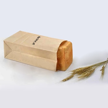 Plain Food Grade Kraft Paper Bag
