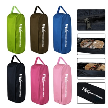 Portable Zipper Shoe Bag With Clear Window